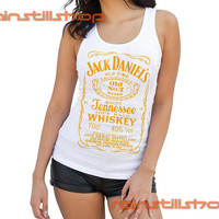 Jack Daniels whiskey yellow logo - tank top for women