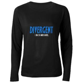 Divergent Blue Women's Long Sleeve Dark T-Shirt> Divergent Blue> Girl Tease