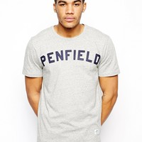 Penfield T-Shirt with Collegiate Logo - Gy1 - gray 1