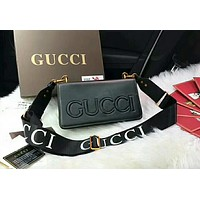GUCCI Trending Classic Women Stylish Leather Shoulder Bag Crossbody Satchel Black I-WXZ2H