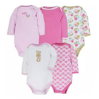 Baby Bodysuits 5 PCS 100% Cotton Body Baby Long Sleeve Infant Clothing Jumpsuit Printed Baby Boy Girl Bodysuits