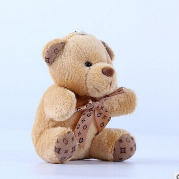10cm a tie plush toy teddy bear doll pendant keychain toy gifts