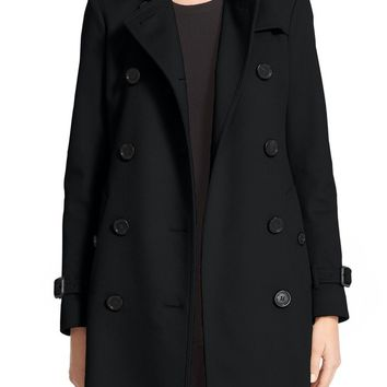 Burberry Kensington Double Breasted Wool & Cashmere Trench Coat | Nordstrom