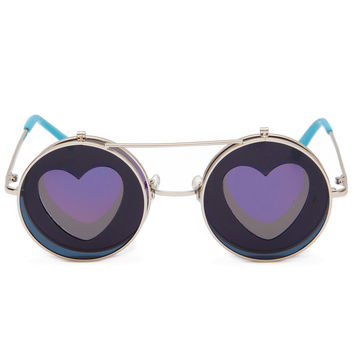 Ginny Love Round Sunglasses - Blue