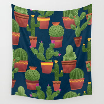 Terra Cotta Cacti Wall Tapestry by Noonday Design