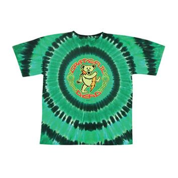 Grateful Dead Men's  Celtic Bear Tie Dye T-shirt Multi