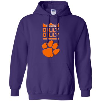 Clemson Tigers : Dilly Dilly : Tigers : G185 Gildan Pullover Hoodie 8 oz.