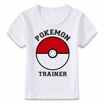 Kids Clothes T Shirt  Trainer Children T-shirt for Boys and Girls Toddler Shirts TeeKawaii Pokemon go  AT_89_9