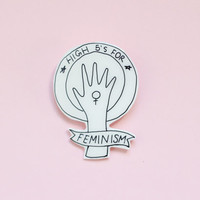 High Fives for Feminism Brooch