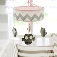 My Baby Sam Chevron Baby in Pink Musical Mobile