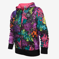 The Jordan Try-Dye Zip Girls' Hoodie.