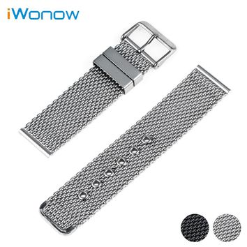 Stainless Steel Watch Band 20mm 22mm 24mm for Citizen Pin Buckle Strap Link Wrist Belt Bracelet Black Silver + Spring Bar + Tool