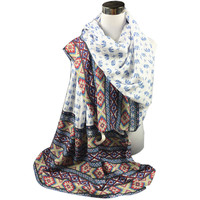 Autumn Winter National Style Ethnic twill long scarf elephant printed Women Printed Cotton Sarong Wrap Shawl Scarves Warp 2016