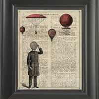 Baloon Man - Printed on Friendship page  -  250Gram paper.