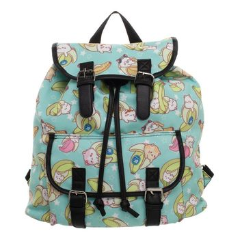 Bananya Green Knapsack Backpack