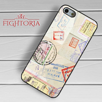 Passport stamps-1y44 for iPhone 6S case, iPhone 5s case, iPhone 6 case, iPhone 4S, Samsung S6 Edge