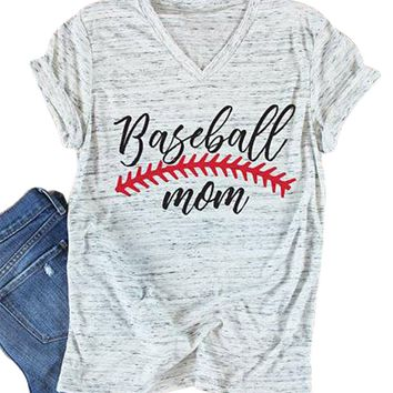 d2bfb18628bc Take Me to the Ball Game Women s V-neck T-shirt Baseball Mom