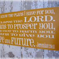 Hope and a Future Typography Sign Shabby Chic by cellardesigns