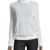 Women's Long-Sleeve Blouson Top, White - Michael Kors - White (SMALL)