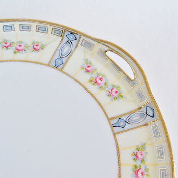 NIPPON Hand Painted Porcelain Serving Vanity Perfume Tray