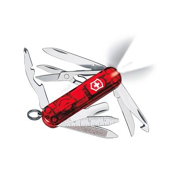Victorinox Swiss Army Midnite MiniChamp Pocket Knife - Ruby - 17 Tools - Light