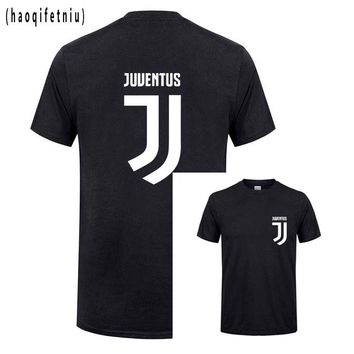 T Shirt Men'S Lastest 2016 Fashion Short Sleeve Juventus Printed T-Shirt Funny Tee Shirts Hipster O-Neck Cool Tops