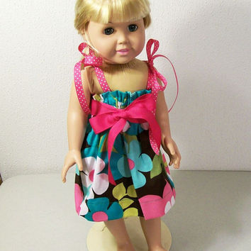 American girl Doll Dress-Alice Floral Swing Dress