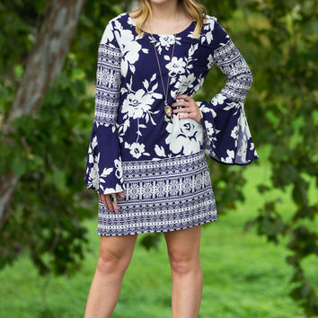 SALE-Take A Trip Dress-Navy