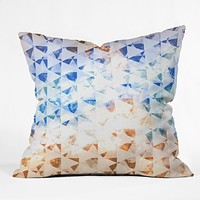 Caleb Troy indie gold sky Throw Pillow