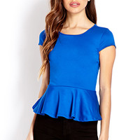 Sleek Peplum Top