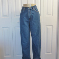 Vintage LL Bean High Waisted Jeans Hipster Mom Jeans Womens Size 10 High Waist Denim Jeans 30 Boyfriend Jeans 90s Grunge