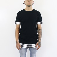 Dylan Stripe T-Shirt (Black)