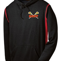 Williamsville East Womens Lacrosse Sport-Tek® Mens Tech Fleece Colorblock Hooded Sweatshirt