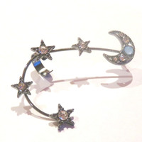 MOON AND STAR EAR CUFF