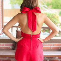 Party Perfect Romper - Red