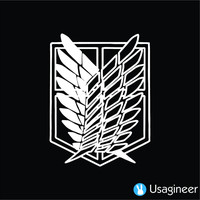 SHINGEKI NO KYOJIN ( ATTACK ON TITAN) WINGS OF FREEDOM RECON CORPS VERSION 1 ANIME DECAL STICKER