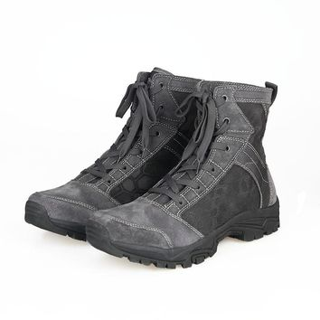Ankle Boots Men US Army Hunting Trekking Camping Mountaineering EVA Rubber Sole Added Buffer Layer Shoes ht134