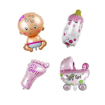Super Fun 4 Piece Baby Shower It's a Girl Foil Fun Shaped Inflatable Balloons