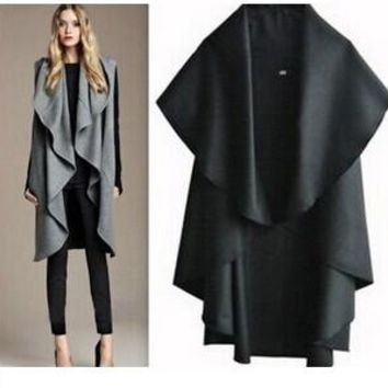 Free Shipping / Hot Sale Women's Fashion Wool Coat, Ladies' Noble Elegant Cape / Shawl. Ladies poncho wrap scarves coat