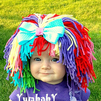 Clown Costume Baby Hat Clown Wig Baby Hats Colorful Wig Toddler Costume Photo Prop Dress Up Clothes Kids Cap
