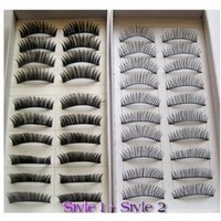 SODIAL(R) 20 Pairs Regular Long and Thick Eyelashes Style 1 and 2