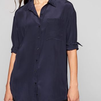 Washable Silk Button Down Tunic|athleta