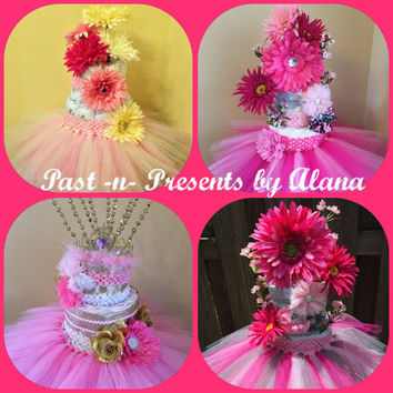 Diaper Tutu Cake, Mom to Be Gift, Baby Shower, Diaper Cake, Diaper Cake Tutu, Tutu Diaper Cake, Baby Shower Gift