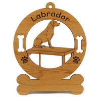 3487 Labrador and Table Personalized Wood by gclasergraphics