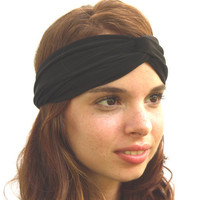 50% SUMMER SALE Turban Headband Headwrap in Black