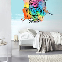 Fulcolor Wall Decal Vinyl Sticker Decals Decor Design Hamsa Hand splash paints Indian Buddha Ganesh Lotos Modern Bedroom Dorm Office (col 7)
