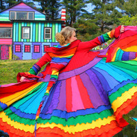 Elf Coat by Katwise  OOAK Rainbow Magic
