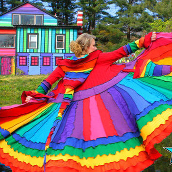 Elf Coat by Katwise  OOAK Rainbow Magic  Reserved by katwise