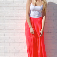 Crazy For Coral Maxi Skirt