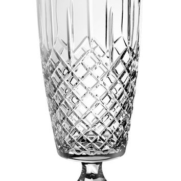 """Majestic Gifts PL-116 Hand Cut Crystal Footed Vase, 15.75""""H"""